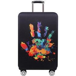Tripnuo vermelho crânio capa para mala de viagem elasticidade bagagem capas protetoras elástico acessórios viagem trole capa