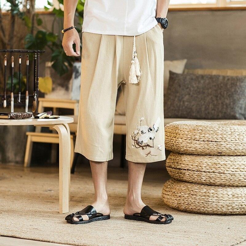 Cargo broek mannen broek met hoge taille broek cargo broek stijl casual losse wijde pijpen nieuwe hot koop 2018 cargo broek TA005