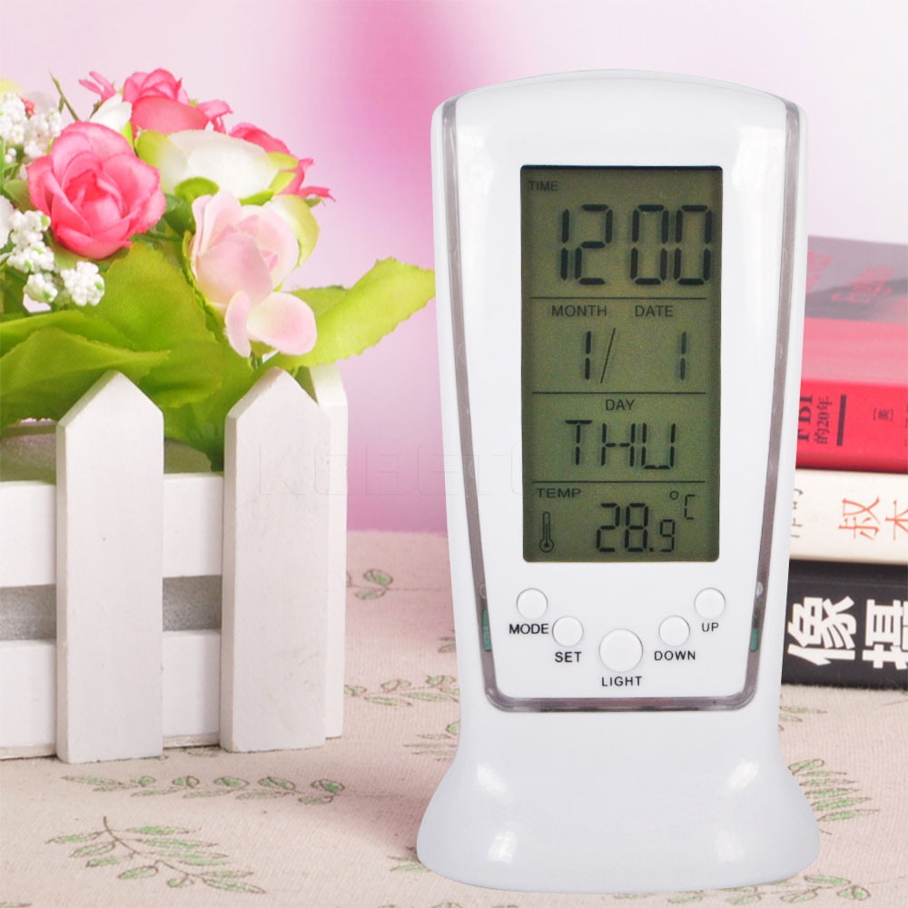 Blue Backlight Digital Alarm Clock Electronic Desktop Clock Table Led Clock Watch Snooze Reloj Computer & Office