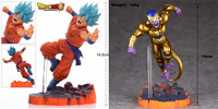 Dragon Ball Z Goud Freeza Frieza Fukkatsuno F Super Saiyan Goku Gokou Battle 15 cm Action Figure