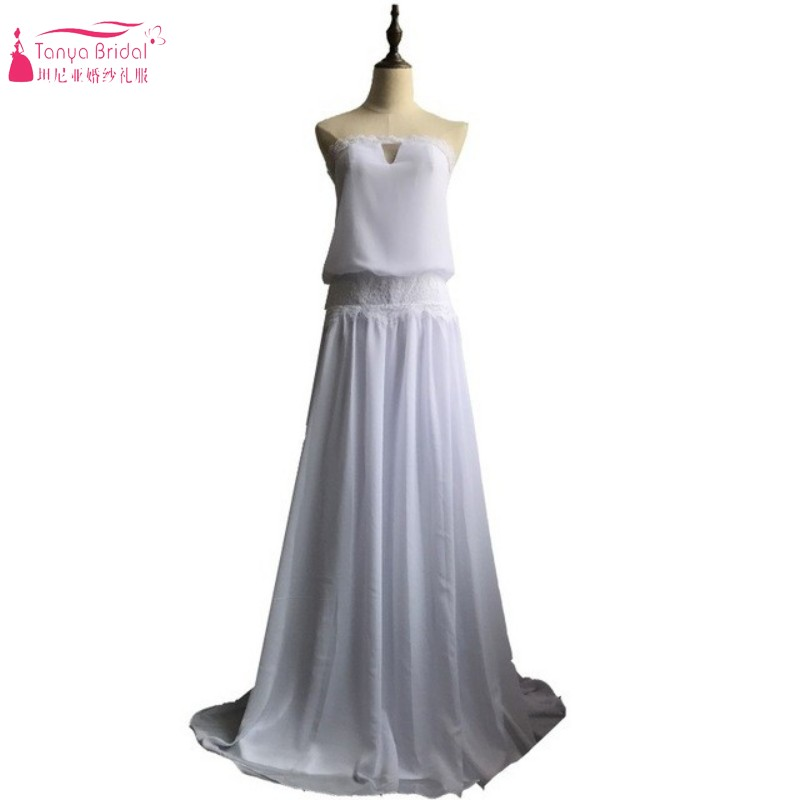 Buy vintage dresses 1920s beach wedding for Strapless and backless wedding dress
