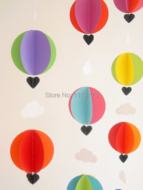 Buy nice garland hot air balloons for Balloon cloud decoration