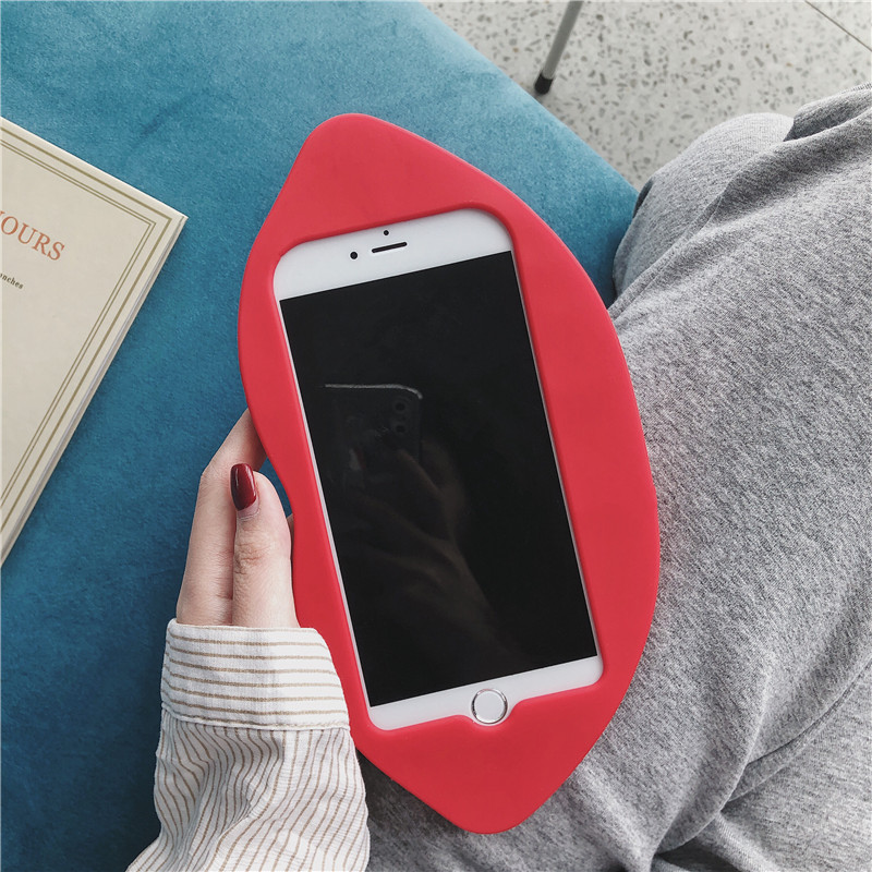 Sexy 3D Red lips iPhone Case