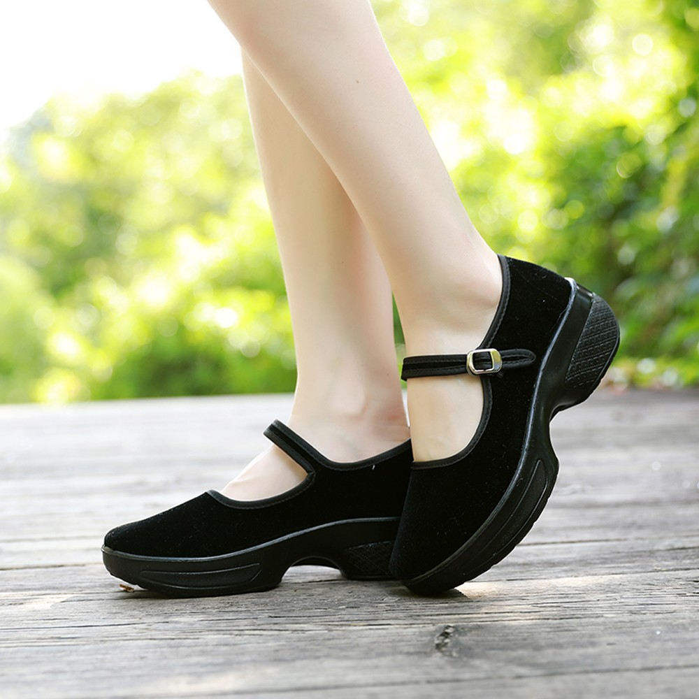 Women Ladies Slip On Flat Sandals Buckle Round Toe Heel Breathable Casual National Style ladies single Shoes sapato feminino summer women ballet flats mary jane shoes buckle strap black casual wedges shoes ladies anti slip slip on flat sapato feminino
