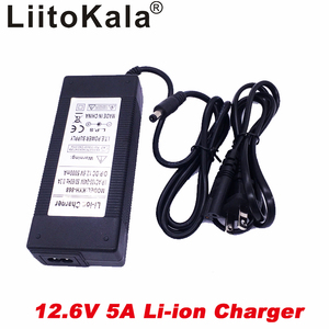 Image 2 - liitokala 12.6V 5A power charger,12.6V charger for CCTV battery pack,5A charger for 12V lithium battery 12V battery charger