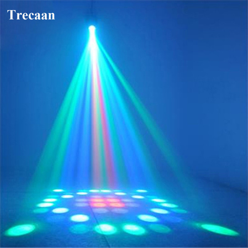 Trecaan RGBW Mini Airship Stage Light 64LEDs Pattern Change Moonflower Projector Magic For Party Pub Disco AC85-265V EU or US