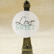 300pcs DIY paper round self adhesive weet love seal label tag for handmade faovrs/cookies /gift /candy hang