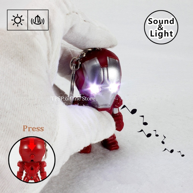 cartoon series Iron- LED sound and light key chain holiday party gifts kid toys