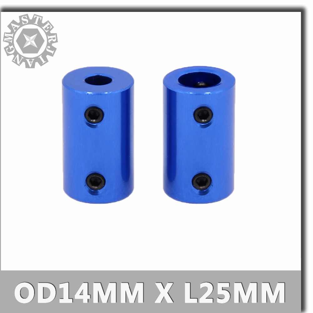 1pcs OD 14x25mm CNC Blue Flexible Coupling Shaft Aluminum Alloy Coupling Bore 5/6/8mm blue Stepper Motor Jaw Shaft Coupler