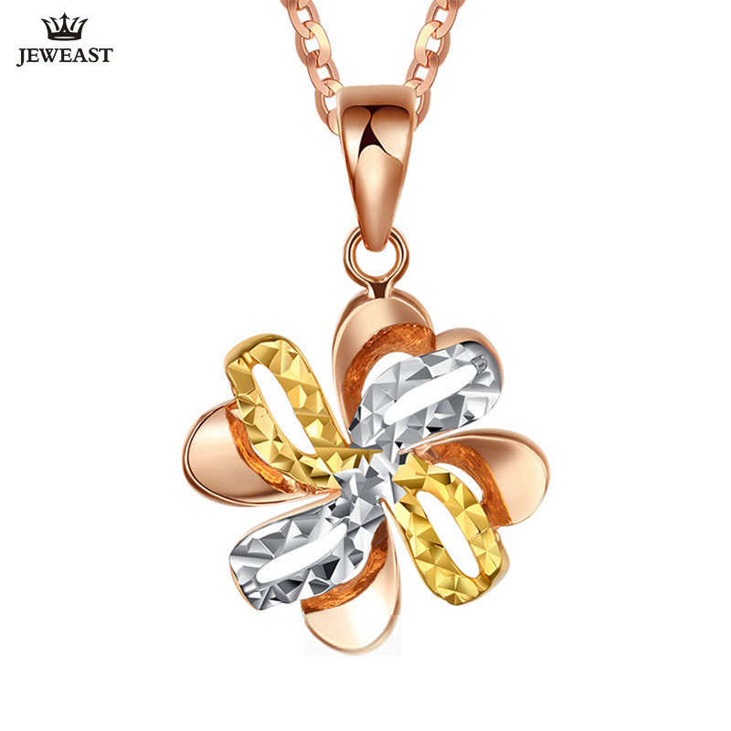 18K Pure Gold Pendant Real AU 750 Solid Gold Charm Multicolor Flower Upscale Trendy Classic Party Fine Jewelry Hot Sell New 201818K Pure Gold Pendant Real AU 750 Solid Gold Charm Multicolor Flower Upscale Trendy Classic Party Fine Jewelry Hot Sell New 2018