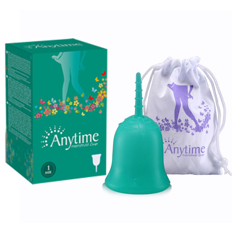 Anytime Feminine Hygiene Lady Cup Menstrual Cup Wholesale Reusable Medical Grade Silicone For Women Menstruation