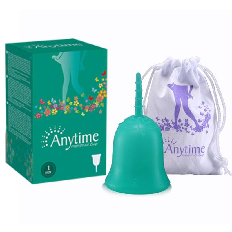 У будь-який час жіноча гігієна Кубок леді Менструальна чашка Оптова багаторазовий силікон медичного класу для жінок менструації