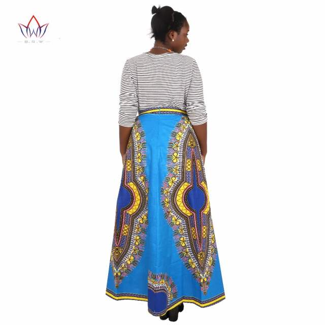 db4a80dba9b0d African Skirts for Women Long African Skirts Maxi Skirt Retro Fashion  African Clothes Faldas Largas Estampadas