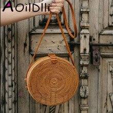 2018 INS CHIC Handmade Crossbody bags Bohemian Straw Bags fo