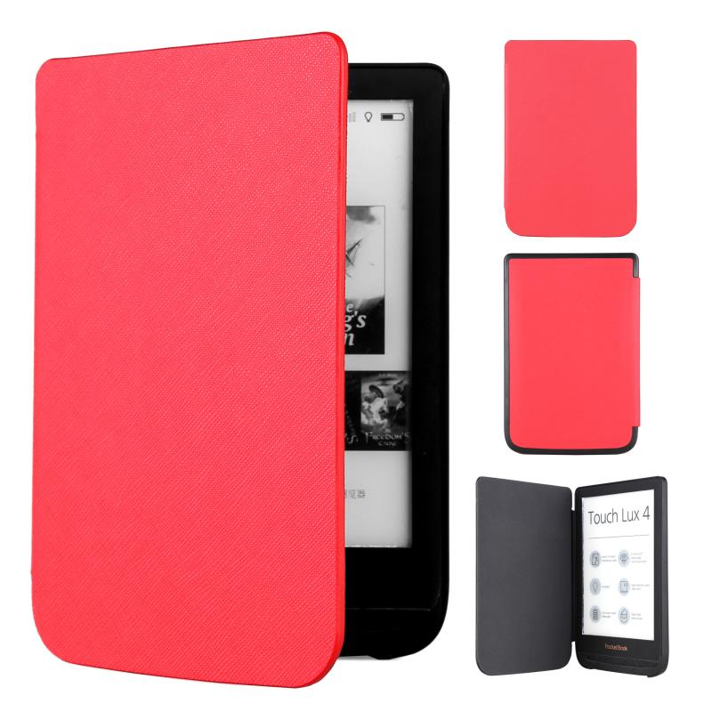 case for <font><b>pocketbook</b></font> 627 <font><b>616</b></font> 632 Ultra Slim magnetic Smart PU cover for <font><b>PocketBook</b></font> Touch Lux 4/Basic Lux 2/Touch HD 3 case image