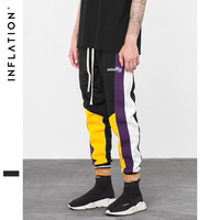 INFLATION Skinny Hip Hop Fashion Men Cargo Pants Casual Ankle length Harem Jogger Elastic Waist Mens Casual SweatPants 8849W