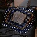 5 colores 53 cm Cadena & Polka dot Impreso pequeño cuadrado de seda bufanda 2017 de Las MÁS NUEVAS Mujeres bufandas de Seda pequeña Plaza 100% bufanda de Seda