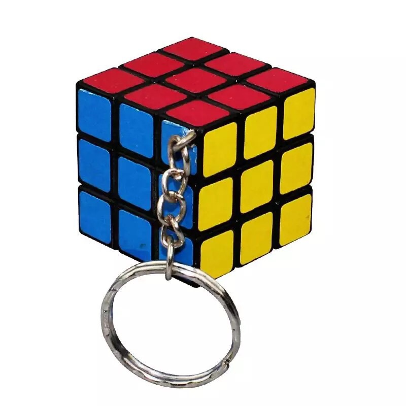2019 Fashion Jewelry Small Rubik's Cube Pendant Key Ring Puzzle Bag Key Pendant Creative Small Gifts