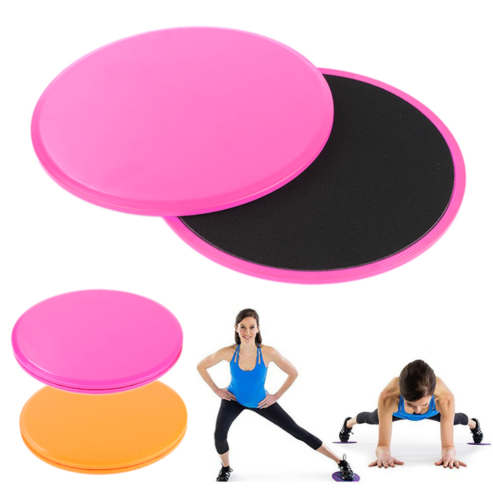 2X Fitness Gliders Workout Gliding Discs Core Leg Sliders Exercise Training US