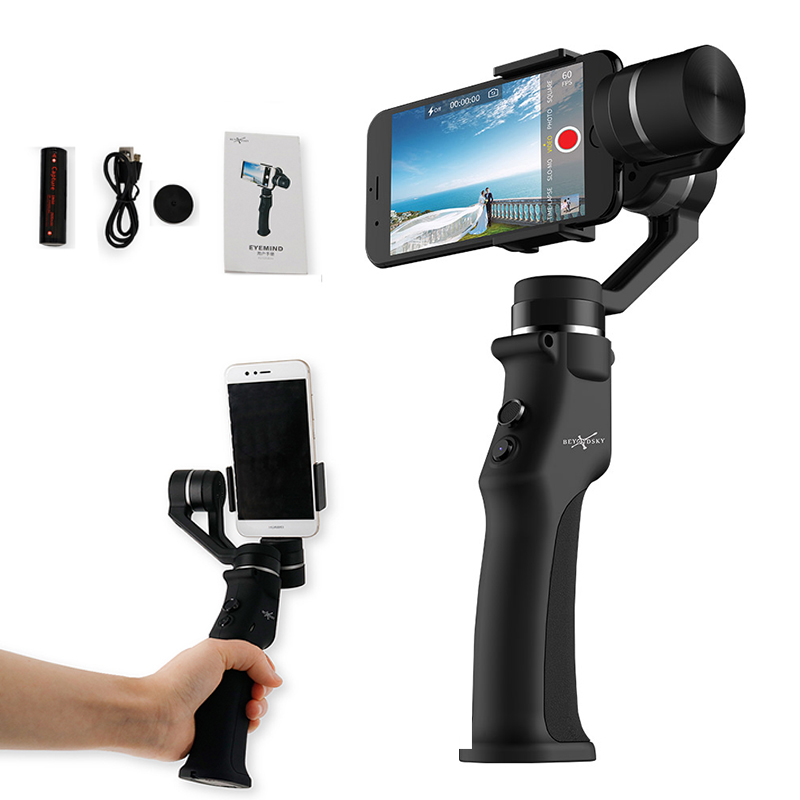 Smartphone Handheld Gimbal 3-Axis Stabilizzatore Viso di Inseguimento Selfie Stick per il iphone Huawei P20 Samsung S9 GoPro 7 Action telecamere