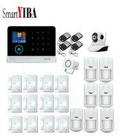 SmartYIBA Home Security 3G Alarm System WIFI Camera Surveillance Infrared PIR Motion Sensor For GPRS SMS Alarm Kits