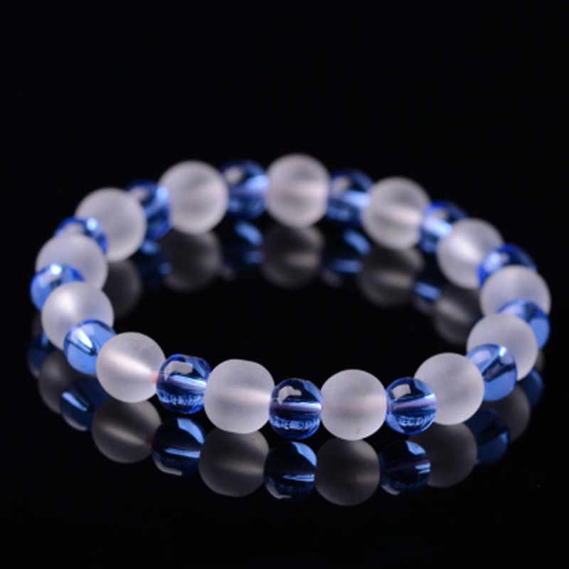 мужской браслет браслет мужской браслеты мужские Модные ювелирные изделия прозрачные стеклянные бусины браслет для женщин и мужчин со вставками из натурального камня браслеты для мужчин и девочек ювелирные изделия