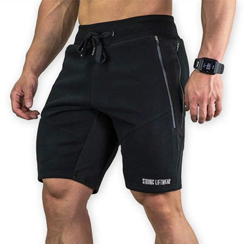 Мужские хлопковые шорты до щиколотки, летние спортивные шорты для фитнеса, бега, тонкие, для пляжа