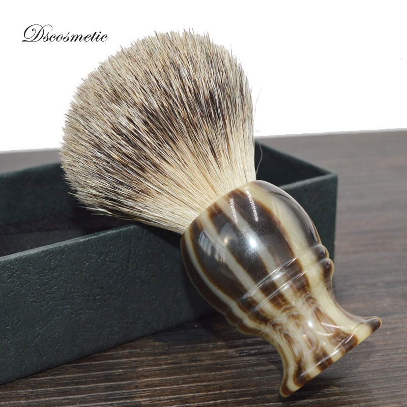Dscosmetic Super Badger Hair Shaving Brush With Resin Handle And Acrylic Shaving Stand Holder For Man Shave