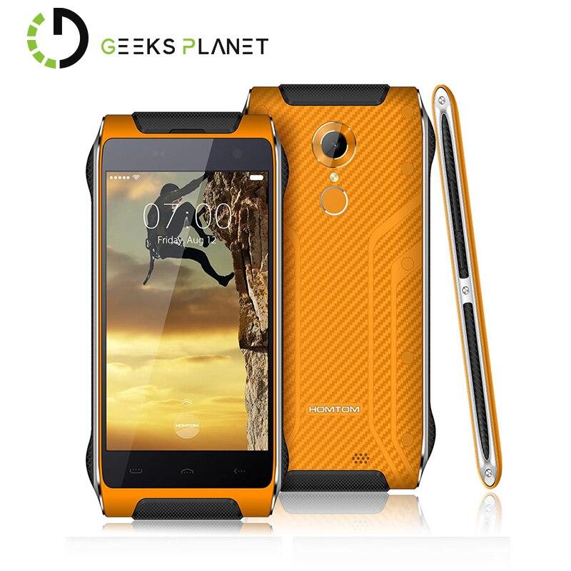 Цена за Оригинал homtom ht20 mtk6737 1.3 ГГц мобильного телефона quad core 4.7 дюймов hd экран android 6.0 ip68 2 г + 16 г водонепроницаемый 4 г lte смартфон