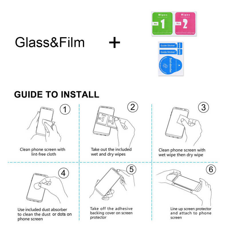 الزجاج ل xiaomi redmi note 5 الزجاج واقية ل xiaomi pocophone f1 Mi8 A1 الزجاج ل redmi note 5 5A 4 الزجاج واقي للشاشة