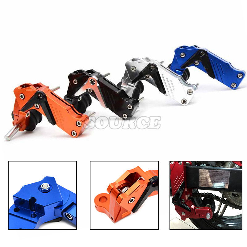 Adjustable Aluminum Chain Tensioner Bolt on Roller Motocross Motorcycle Dirt Street Bike ATVs Banshee Chopper for Honda kawasaki universal motorcycle chain tensioner bolt on roller chopper atv dirt street bike for kawasaki er 6f er 6n ninja 650r 400r 300