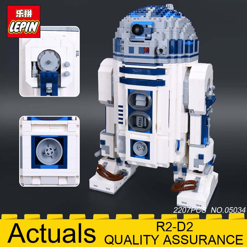 Lepin 05043 Genuine Star Series The R2 D2 Robot model Building Blocks Bricks Toys legoeds 10225 wars birthday christmas gifts