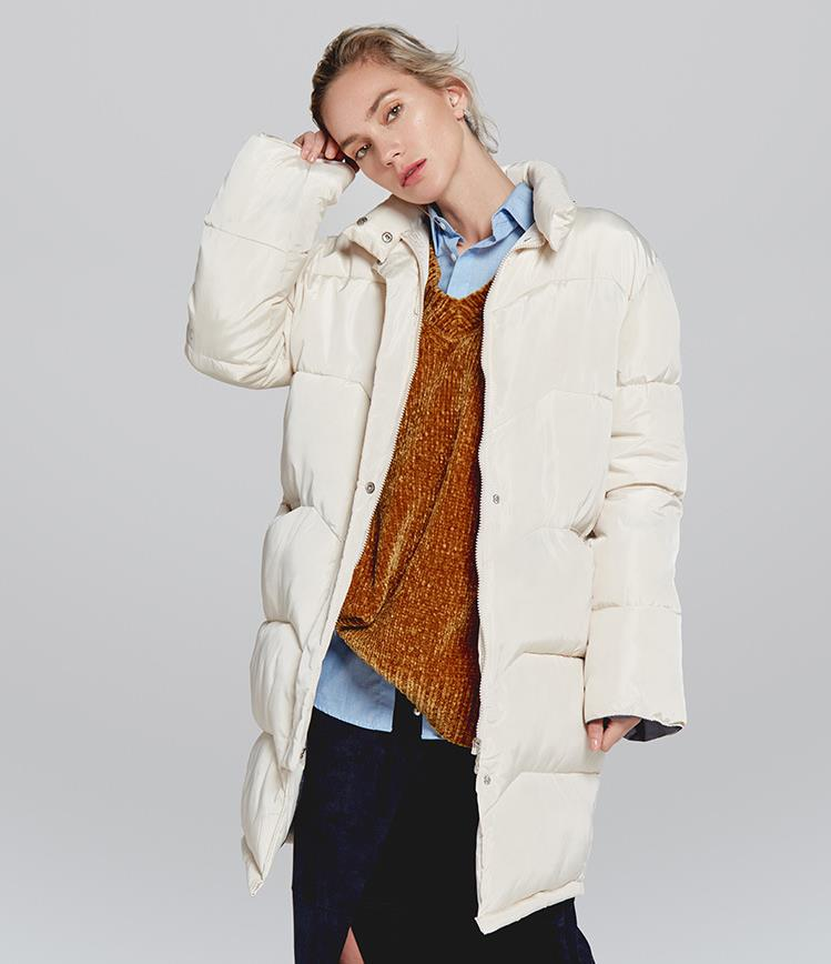 464c7d37d24d  5  New Women Parka 2018 Autumn Winter Plus Size Long Thick Cotton Warm  Coat Female Casual Standing Collar Jacket Coat-in Parkas from Women s  Clothing   ...