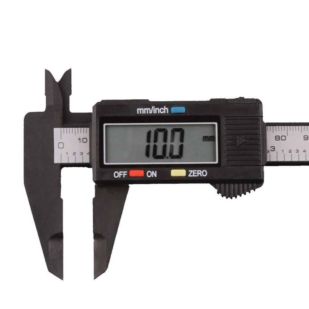 150mm 6 Inch LCD Digital Ruler Electronic Carbon Fiber Vernier Caliper Gauge Micrometer Measuring Tool Calibre Digital  #30