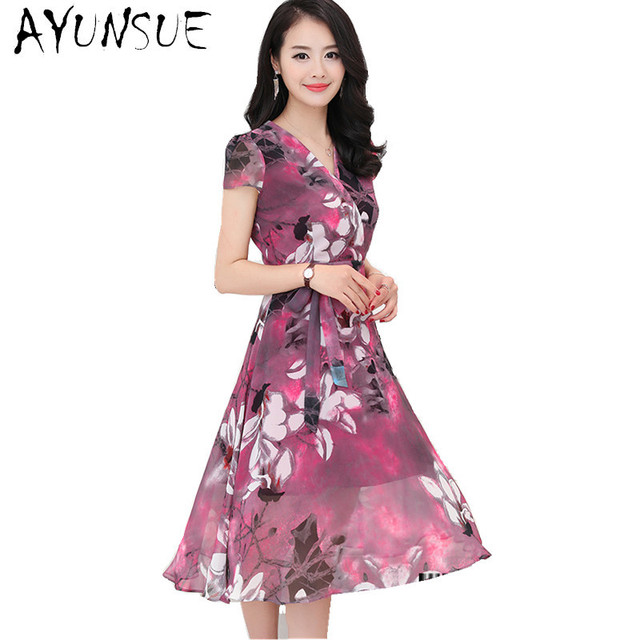 1af9e0200f3 Robe Floral Summer Dress Women 2018 Summer Chiffon Dresses Robe Femme ete  Ladies Dresses Plus Size