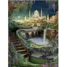 5D diy diamond painting palace full square embroidery mosaic cross stitch needleworks H744