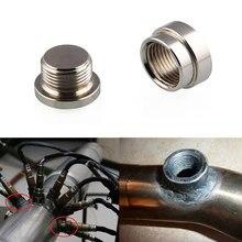 d9eaea08a O2 Oxygen Sensor Stainless Steel Weld On Bung   Plug Wideband Nut   Cap Kit  XR657