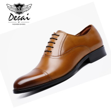 цена на DESAI Large Size Genuine Leather Shoes Men Breathable Shoes British Style Lace-Up Business Dress Shoes Wedding Formal Men Shoe