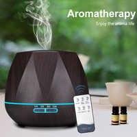 Humidificador de aire de Control remoto de 500ML difusor de aceite esencial Humidificador fabricante de niebla LED difusor de Aroma aromaterapia