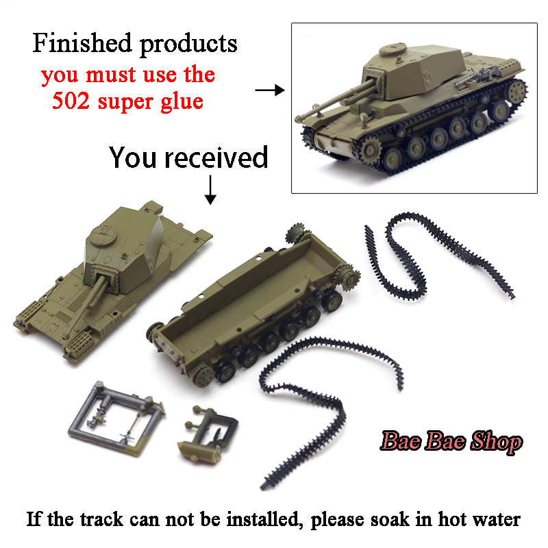 Toy Tank-Model World-Action-Figures Military-Scene-Ornaments German Mini 1:72-Assembly