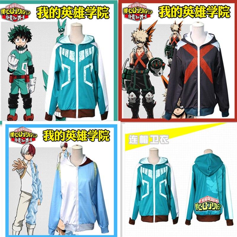 Japan Anime Boku no Hero Bakugou Katsuki/Iida Tenya/Todoroki Shouto Cosplay Costume My Hero Academia Sportswear Sweatshirts