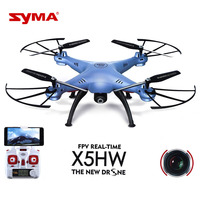 Original Quadrocopter SYMA X5HW Wifi FPV Drone With 0.3MP HD Camera 360 Eversion Real Time Remote Control RC Helicopter Kid Gift