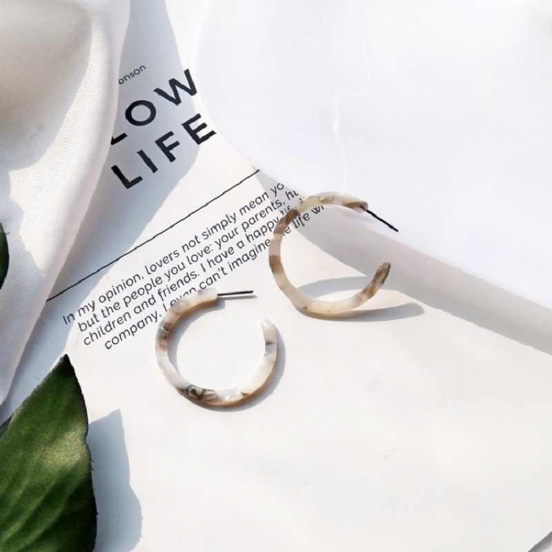 2019 luipaard oorbellen acetaat oorbellen temperament C-vormige oorbellen wilde eenvoudige fashion Koreaanse golf vrouwelijke sexy oorbellen