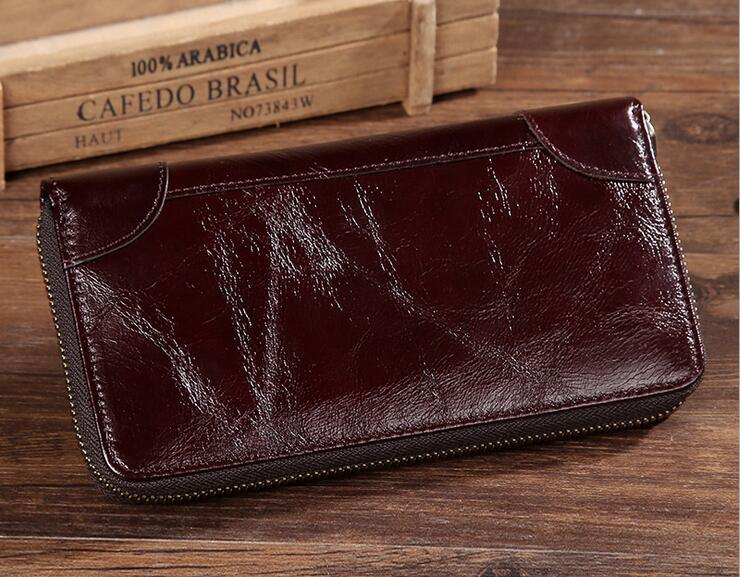 Men's Clutch Bags Genuine Leather Purse for Men Wallets Business Card Holder Male Purses Long Design Wallet Clutch #MD-L0234 2016 famous brand new men business brown black clutch wallets bags male real leather high capacity long wallet purses handy bags