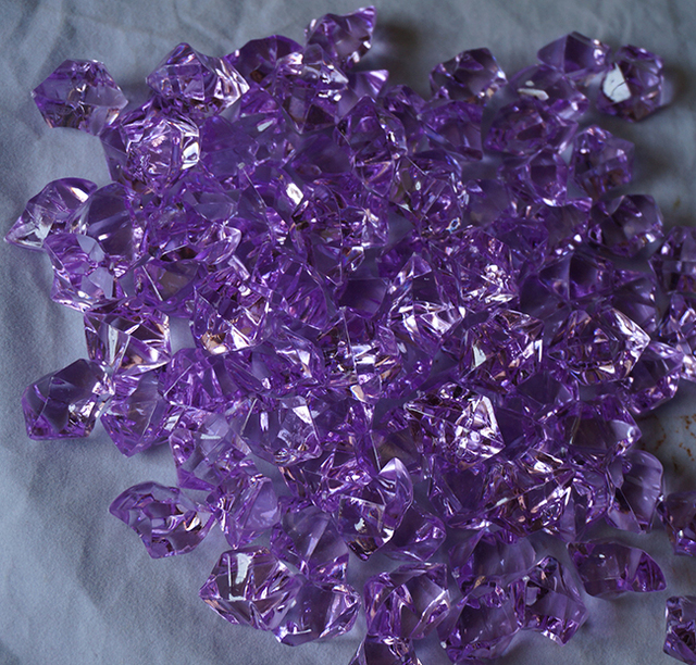 Purple Acrylic Ice Crystals For Table Decorating Fruit Flowers Vase ...