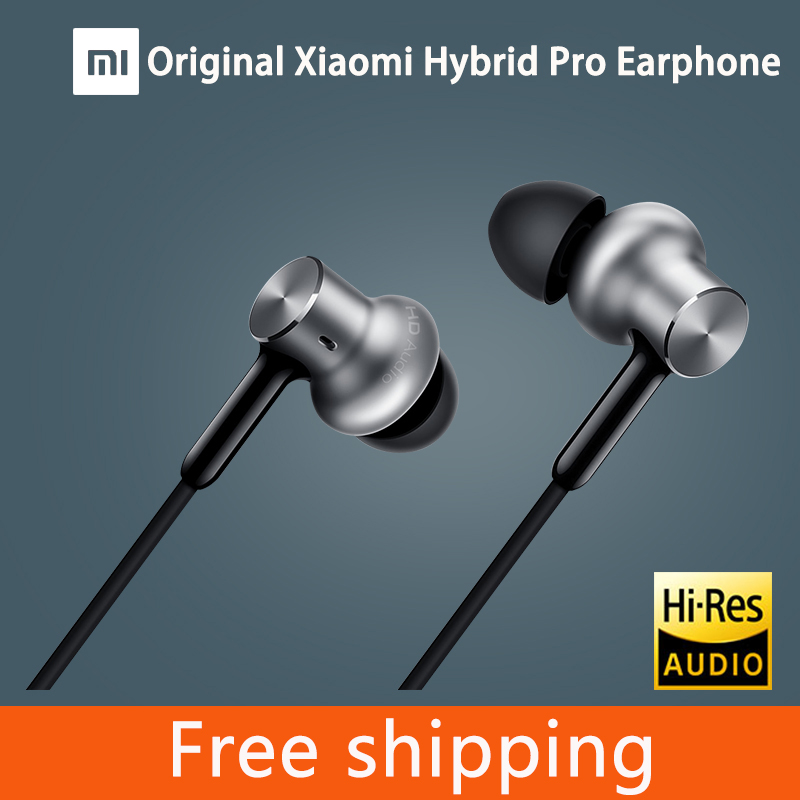 100% Original Xiaomi Hybrid Pro HD Earphone with Mic In-Ear HiFi noise canceling Headset Circle Iron Mixed For Xiaomi note4 mi 6 original xiaomi xiomi mi hybrid earphone 1more design in ear multi unit piston headset hifi for smart mobile phone fon de ouvido