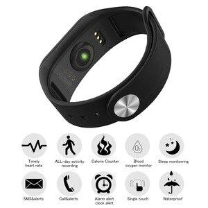 Wearpai F1 سوار ذكي مراقب معدل ضربات القلب ضغط الدم الذكية الفرقة الصحية جهاز تعقب للياقة البدنية الذكية معصمه لالروبوت iOS