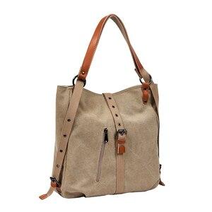 Image 3 - Moda płócienna torba na ramię kobiety plecak szkolne plecaki dla nastolatek dziewczyny kobieta plecak Bolsas Mochilas duże torby podróżne