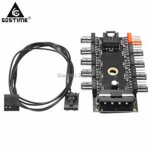 Gdstime D PC typu 1 do 10 4Pin Molex chłodnica piasty wentylatora kabel splittera PWM 12 V 4 Pin złącze zasilania dostaw adapter do komputera górnictwa