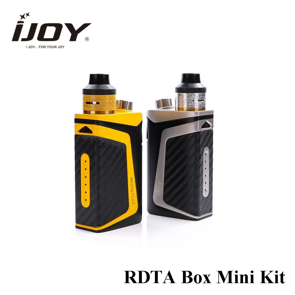 original IJOY RDTA Box Mini kit 100W Starter vape built-in li-po 2600mAh 6ml e-juice tank IBM-C2 coil box mod vaporizer mini kp box 80w starter kit